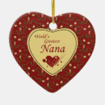 Country style world's greatest nana red ornament