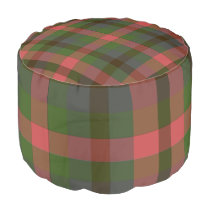 Country Summer's Eve Plaid Pouf