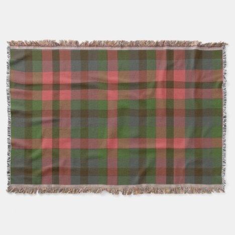 Country Summer's Eve Plaid Throw Throw Blanket