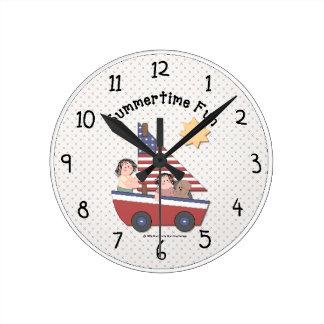 Country Summertime Fun Wall Clock