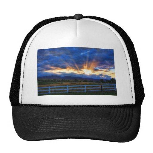 Country Sunbeam Ray Sunset Trucker Hat