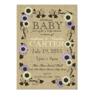 Country Sunflower Baby Shower Card