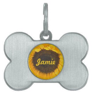 Country Sunflower Barn Dog Gifts Pet Name Tag
