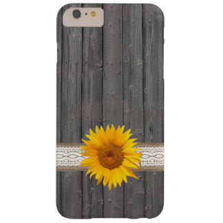 Country Sunflower Barn Wood iPhone 6 Plus Case