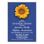 "country sunflower blue rehearsal dinner invitation 5"" x 7"" invitation card"