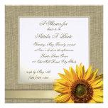 Country Sunflower Bridal Shower Invite