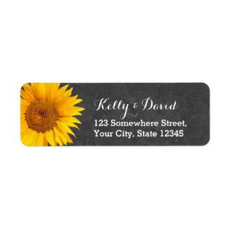 Country Sunflower Chalkboard Return Address Return Address Label