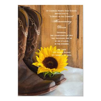 Country Sunflower Homecoming Dance Invitation