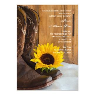 Country Sunflower Junior / Senior Prom Invitation