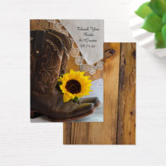 Country Sunflower Lace Western Wedding Favor Tags at Zazzle