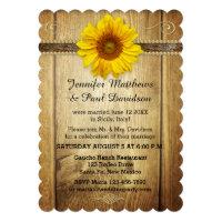 Country Sunflower Post Wedding Party Invitation Card (<em>$2.30</em>)