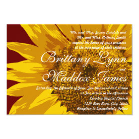 Country Sunflower Rustic Wedding Invitations