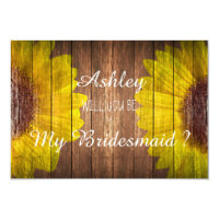 Country Sunflower Rustic Will you be my Bridesmaid Card (<em>$1.86</em>)