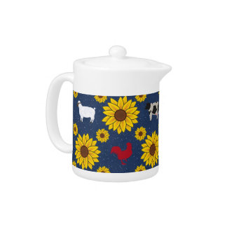 Country Sunflower Teapot