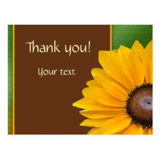 Country Sunflower Thank you Postcard