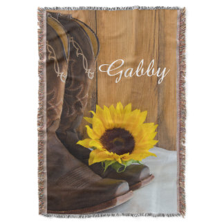 Country Sunflower Throw