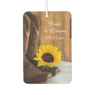 Country Sunflower Wedding Air Freshener