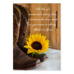 Country Sunflower Wedding Charity Favor Card Business Card Template