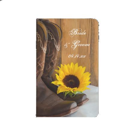 Country Sunflower Wedding Checklist Notebook Journal