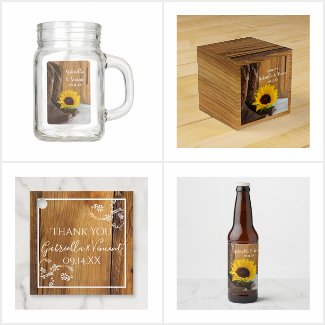 Country Sunflower Wedding Reception Products