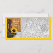 Country Sunflower Western Wedding Thank You