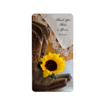 Country Sunflowers and Lace Wedding Favor Tags