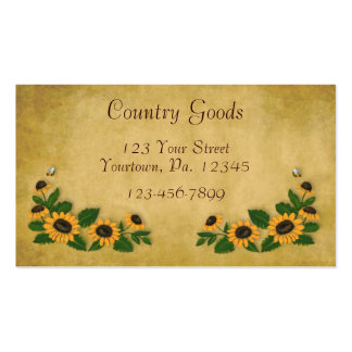 Country Sunflowers Business Card