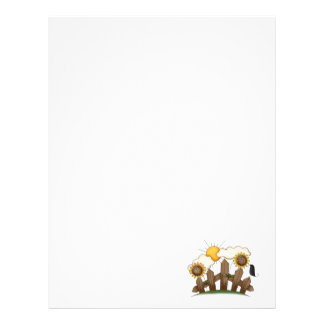 country sunflowers customized letterhead