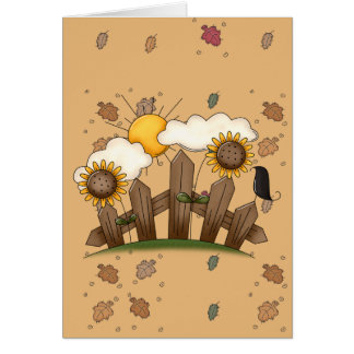 country sunflowers greeting card