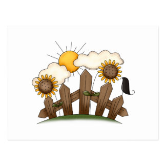 country sunflowers postcards