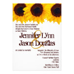Country Sunflowers Rustic Wedding Invitations