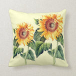 Country Sunflowers Vintage Summer Botanical Pillows