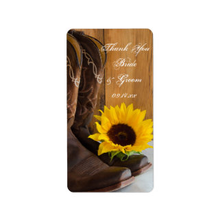 Country Sunflowers Wedding Thank You Favor Tags