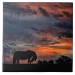 Country Sunrise Large Square Tile