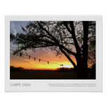 Country Sunset Clothes Line Photography Poster