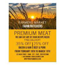 Country Sunset, Farmer & Butcher Advertising Flyer
