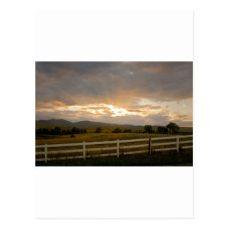 Country Sunset Postcard