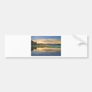 Country Sunset Reflection Bumper Sticker