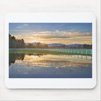 Country Sunset Reflection Mouse Pad