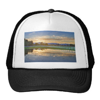 Country Sunset Reflection Trucker Hat