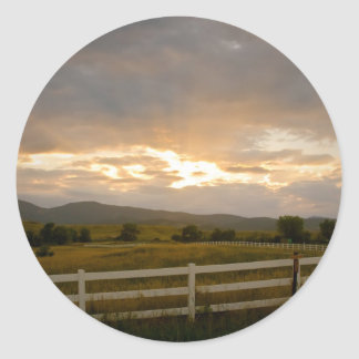 Country Sunset Stickers