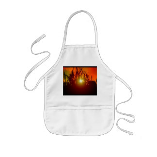 Country Sunset Through a Field Kids' Apron