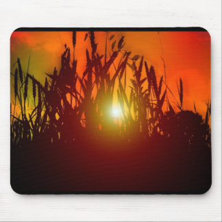 Country Sunset Through a Field Mouse Pad