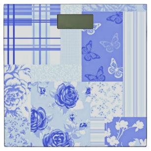 Country Sweet Cornflower Blue Bathroom Scale