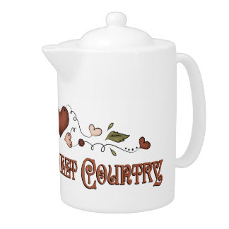 Country Sweet Country Tea Pot