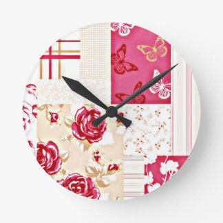 Country Sweet Ruby Red Wall Clock