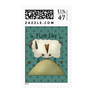 Country Sweethearts Valentine's Day Stamp