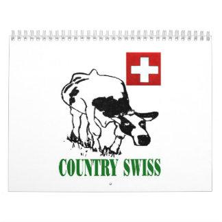 Country Swiss Calendar