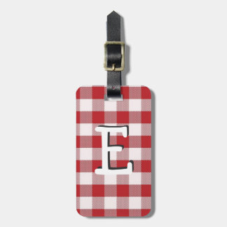 Country Table Cloth Luggage Tag