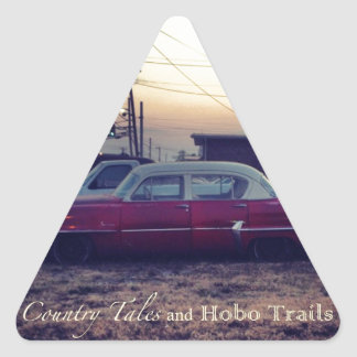Country Tales and Hobo Trails Triangle Sticker